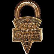 """REDUCED Original """"Keen Kutter"""" Brass Padlock Prod. St.Louis,USA. 12-19-05 & 01-2"""