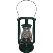 """REDUCED """"Paull's Leader No. 0"""" Lantern with a Very Nice Green Enamel  Paint !"""