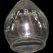 "REDUCED Clear Glass  ""P. & R. Ry."" = Philadelphia & Reading Railway Lantern Globe."