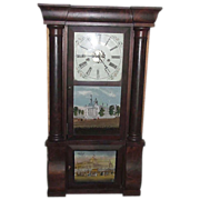 REDUCED Civil War Period Triple Decker  8 Day E.N. Welch Clock with New York Crystal Palace &