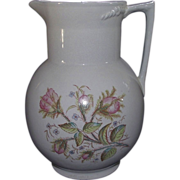 """REDUCED Transfer Decorated """"Mossy Rose"""" Pattern Water Picture !!! Ca. 1910."""