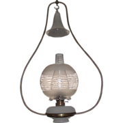 REDUCED Complete Ives Brass Harp Oil Lamp, Great for Hanging over the Boss's Desk !!!  Circa 1