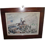 "REDUCED Rare Mexican American War Print Titled ""Colonel Harney's Brilliant Charge at the"