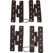 """REDUCED Two Sets of """"H"""" Hinges for Cupboard Doors !!! Circa 1860."""