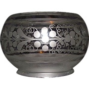 REDUCED 5 inch Decorated Shade for Oil Lamps or Gas Lights !!! Circa 1870.