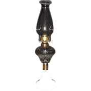 "Rare Small Atterbury ""PRISM"" Pattern Oil Lamp with Octagon Base & N.O.S. Burner !"