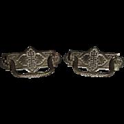 Victorian Design pair of Solid Brass Drawer Pulls !! Ca. 1890