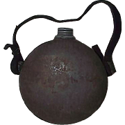 REDUCED Confederate Militia Drum Canteen with Zinc Screw Cap & Spout !!! Circa 1840's to 1861.