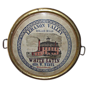 "Rare ""Lebanon Valley Roller Mills * Wernersville,Pa."" Advertising Tray Circa 1890 !!!"