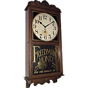 "REDUCED Excellent  ""Standard Time Correct"" New Haven Oak Regulator Clock Circa 1897"