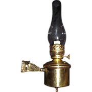 """REDUCED Authentic Railroad Parlor """"Wall Bracket Oil Lamp"""" Circa 1890 !!!"""