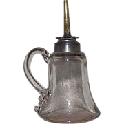 "REDUCED Pre Civil War ""Sparking Lamp"" with Applied Finger Loop complete with Origina"