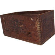 """REDUCED """"Carter's Ink"""" Wood Shipping Crate Circa 1909  !"""