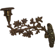REDUCED Civil War Period Brass Wall Candle Sconce !!!