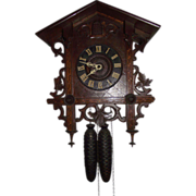 REDUCED Black Forest  Hand Crafted Case with inlaid Marquetry & German Movement Circa 1900