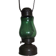 """REDUCED Rare Green Globe in a """"Jewel"""" marked Skater's Lantern !!!"""