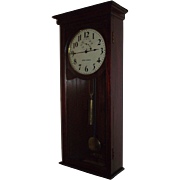 Seth Thomas No. 4 Wall Regulator with 8 Post Movement in a Pristine Mahogany Case Circa 1925