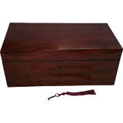 "Colonial American Mahogany ""Travel Desk"" with secondary Pine & Poplar Woods !!!"