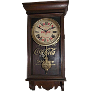"Super Rare ""Coca-Cola Salesman Sample Advertising Clock"" made by Sessions Clock Co."