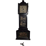 "REDUCED Rare Miniature ""Reed's Tonic Grandfather Clock"" Advertising Cure for Malaria"