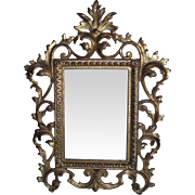 Brassy Rococo Picture Frame for 6 inch by 4 1/4 inch Photo.