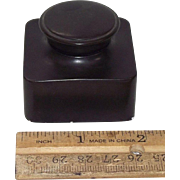 "Deluxe Double Screw Caps on ""Traveler's Ink Well"" made of India Rubber Circa 1920 Germany in Very Fine condition with No Chips, Cracks, or Fractures !!!"