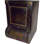 REDUCED General Store Tin  Dispenser with Original Bevel Cut Front  Mirror ! Ca. 1895.