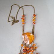 Antique Russian Butterscotch Baltic Natural Amber Necklace