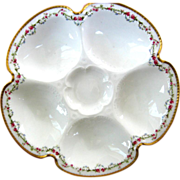 Antique Haviland Oyster Plate ~ Roses! Roses! Roses!