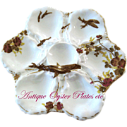 Antique Haviland Oyster Plate ** STURGEON Fish!