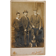 Antique Cabinet Photograph ~ British Family With Dog C1902