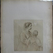 Bartolozzi Engraving Two Young Women 1800
