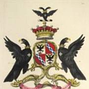 Edmonson Folio Heraldry Engraving COA William Bouverie Earl Radnor 1700's 18th C
