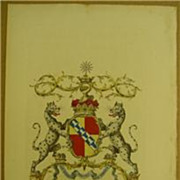 Jacobs English Peerage Rare Coat Of Arms Sackville Duke Of DORSET 1700'S
