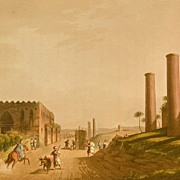 "Sir Robert Ainslie - Luigi Mayer, ""Granite Pillars of the Portico of Canopus in Ancient Alexandria"", Aquatint London, 1802"