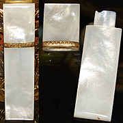 Fine Antique French Palais Royal Mother of Pearl Needle Case