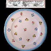 """6 Piece Antique Minton/Caldwell 8"""" Cabinet Plate Set, Floral Enamel"""