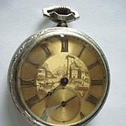 Vintage Guilloche Benedict Bros Pocket Watch
