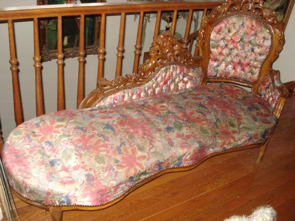 English Hand Carved Settee