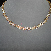 Vintage Attwood and Sawyer Crystal  Necklace