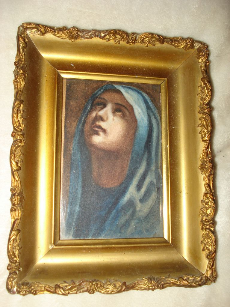 Reverse Painting On Glass of The Madonna