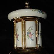 Italian Porcelain Carousel Music Box