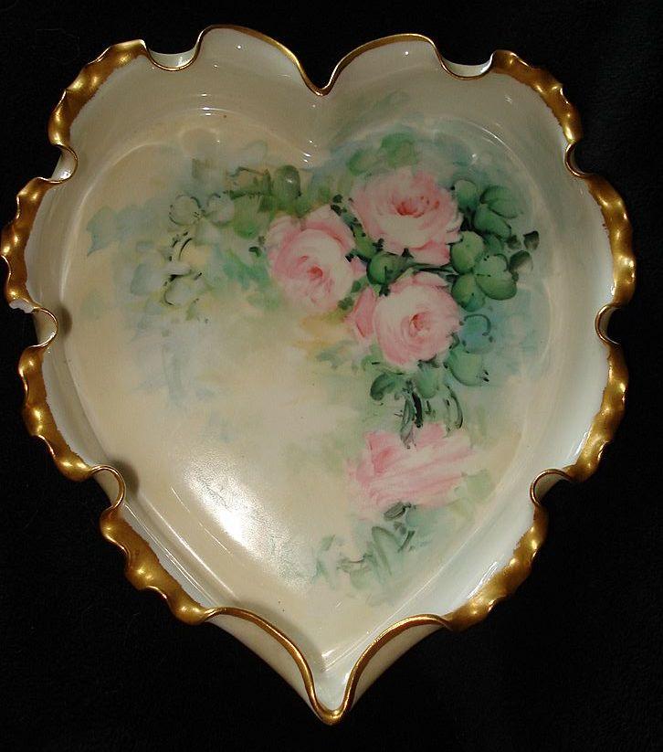 Rare Willets Belleek Heart Dish