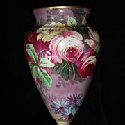 Large Hand Painted Limoges Vase