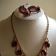 Vintage Juliana Parure Necklace and Earrings