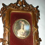 Miniature Painting Marie Antoinette c19th