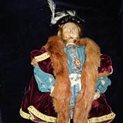 Vintage Hand Made Signed King Henry Vlll Doll  c19