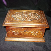 Hand Carved Black Forest Box Satin Lining