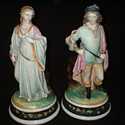 German Shakespearean Porcelain Couple Romeo and Juliette c19th