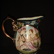 Japanese  Hand Painted Porcelain  Moriage Pitcher